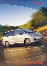 Toyota Previa Prospekt 7 03 brochure 2003 Auto PKWs Japan Autoprospekt Asien car