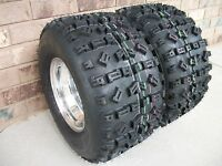 (2) Tire Wheel Rim Kit 6 Ply Rear 22x11-10 Yamaha Blaster 200