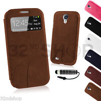 Slim Flip VIEW Case Cover For Samsung Galaxy S4 i9500 +Screen Protector
