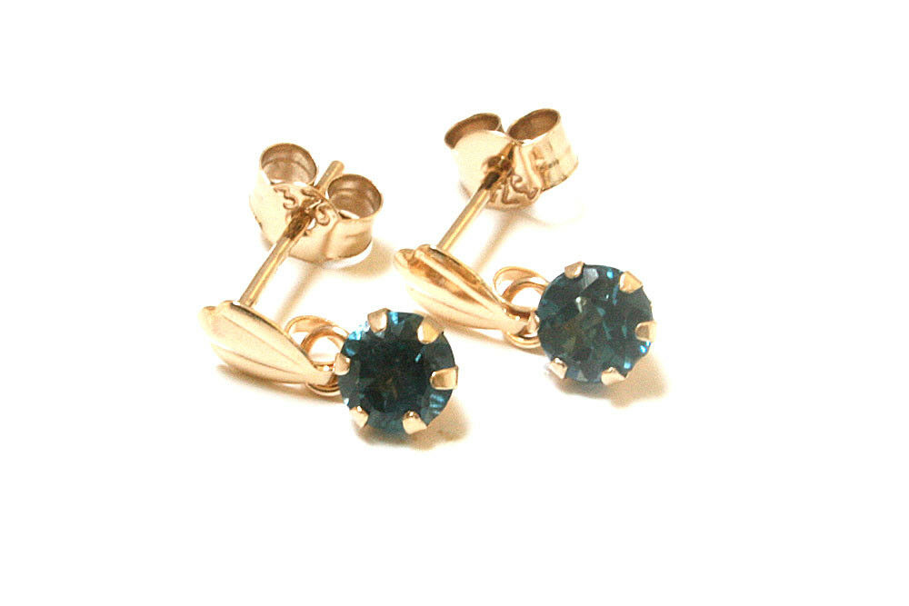 99531bbd3 9ct gold London bluee Topaz round drop Earrings Gift Boxed in UK Xmas Made  pymolx37555-Gemstone