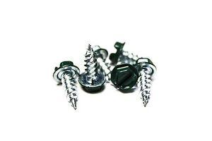 (1000) 8x1/2 Slotted Hex Head Sheet Metal Screws (Evergreen)
