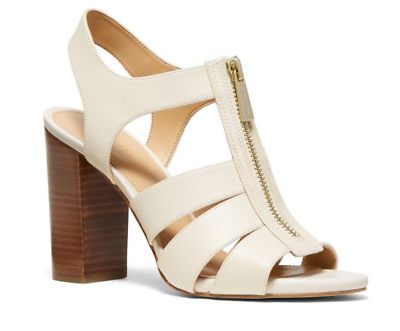 Michael Kors Damita Sandal Leather Light Cream Women's sizes 6 11NEW!!! | eBay