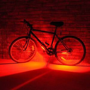 Go brightz 2 pack red bright led night light strip bicycle bike image is loading go brightz 2 pack red bright led night aloadofball Image collections
