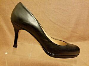 L-K-Bennett-London-Women-Black-Leather-Pumps-High-Heels-Formal-Shoes-Size-37-5