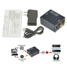 Digital Optical Toslink Coax to Analog L/R RCA Audio Converter Adapter + Cable