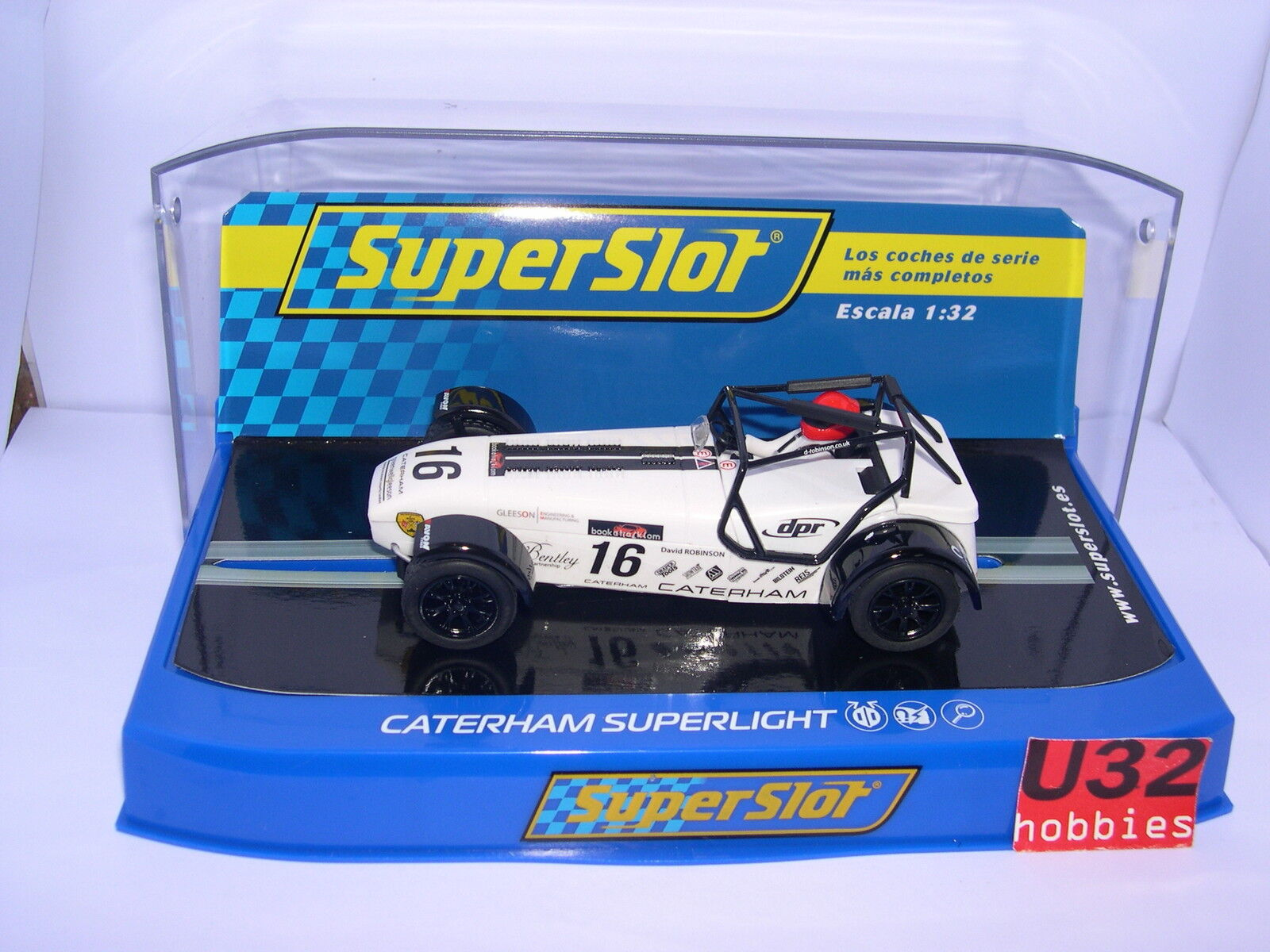 SUPERSLOT H3723 CATERHAM SUPERLIGHT  16 R900-S CHAMPIONNAT 2015 SCALEXTRIC RU
