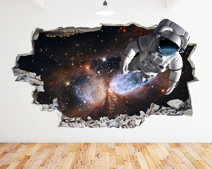Espace enfants astronaute cool Chambre Sma Autocollant Chambre 3D Vinyle enfants