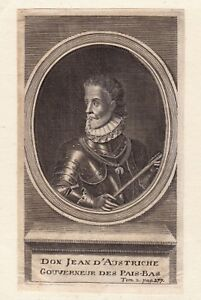 Portrait-XVIIIe-Juan-D-039-Autriche-Habsbourg-Gouverneur-Pays-Bas-Bataille-Lepante