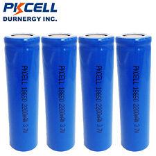4pcs 18650 Li-ion Vape Mod  Battery Rechargeable 3.7v Liion 2200mAh Unprotected