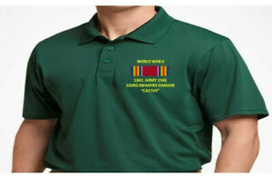 WORLD WAR II RIBBON 103RD INFANTRY DIVISION*EMBROIDERED POLO SHIRT/SWEAT/JACKET.