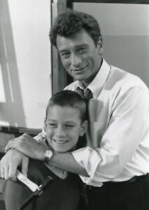 johnny hallyday conseil de famille 1986 vintage photo original 1 ebay. Black Bedroom Furniture Sets. Home Design Ideas