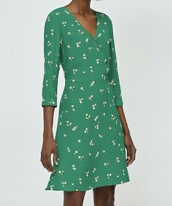 BNWT-WAREHOUSE-green-ditsy-floral-print-Verity-tea-dress-size-18-euro-46-49-NEW