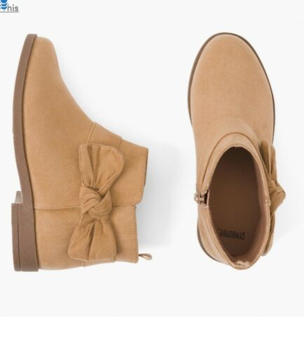 12 1 NEW GYMBOREE TAN FAUX SUEDE BOOTIES BOOTS  GIRLS SIZES  9