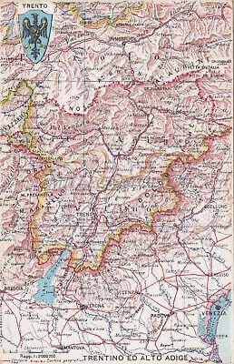 Trentino Alto Adige Cartina Stradale.Trentino Ed Alto Adige Mappa Ed Cardone Valenziani Ebay