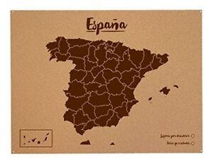 Carte-D-039-Espagne-de-XL-en-Liege-Naturel-Marqueurs-pour-Gaz-Vos-Voyage-Nouvelle