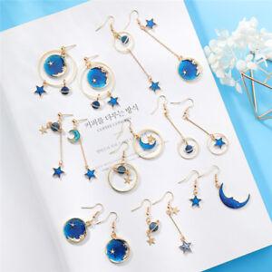 Blue-Star-Moon-Long-Drop-Dangle-Earring-Women-Planet-Ear-Stud-Earrings-Jewelry-F