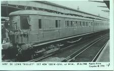 Pamlin repro photo postcard M907 ex LSWR Bullet EMU Set Wimbledon 1948