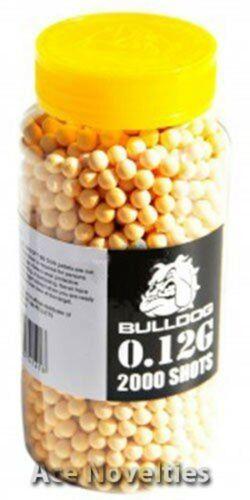 Bulldog High Pro Grade 6 mm 0.12 g poids léger jaune Balles BB X 2000 Bouteille