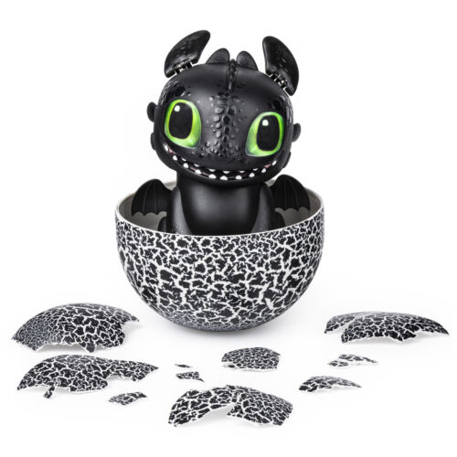 How To Train Your Dragon Hidden World Toothless Black Dragon Hatchimal Egg NEW