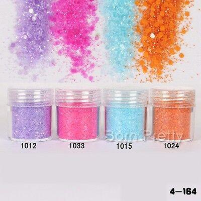 10ml Nail Art Glitter Powder Candy Color Super Fine Powder Sheets Tips DIY