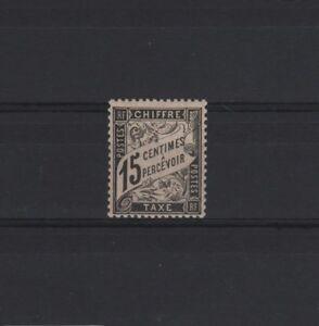 FRANCE-STAMP-TIMBRE-TAXE-YVERT-N-16-034-TYPE-DUVAL-15c-NOIR-034-NEUF-xx-TTB-T320