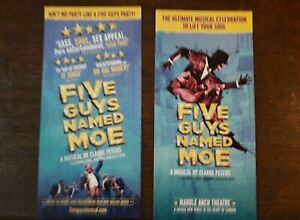 2-DIFFERENTS-FLYERS-FLYER-MUSICAL-WEST-END-LONDON-FIVE-GUYS-NAMED-MOE