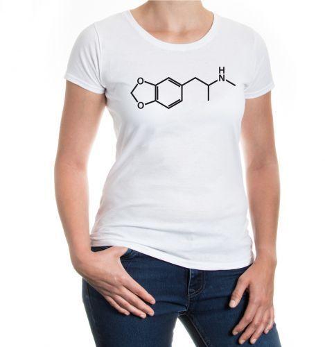 Femmes Manches Courtes Fille T-Shirt-Structure Formule-Ecstasy pilule Chimie