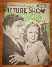 PICTURE SHOW Vol 35 No 885 18TH APRIL 1936 JEAN HARLOW SPENCER TRACY FRONT COVER