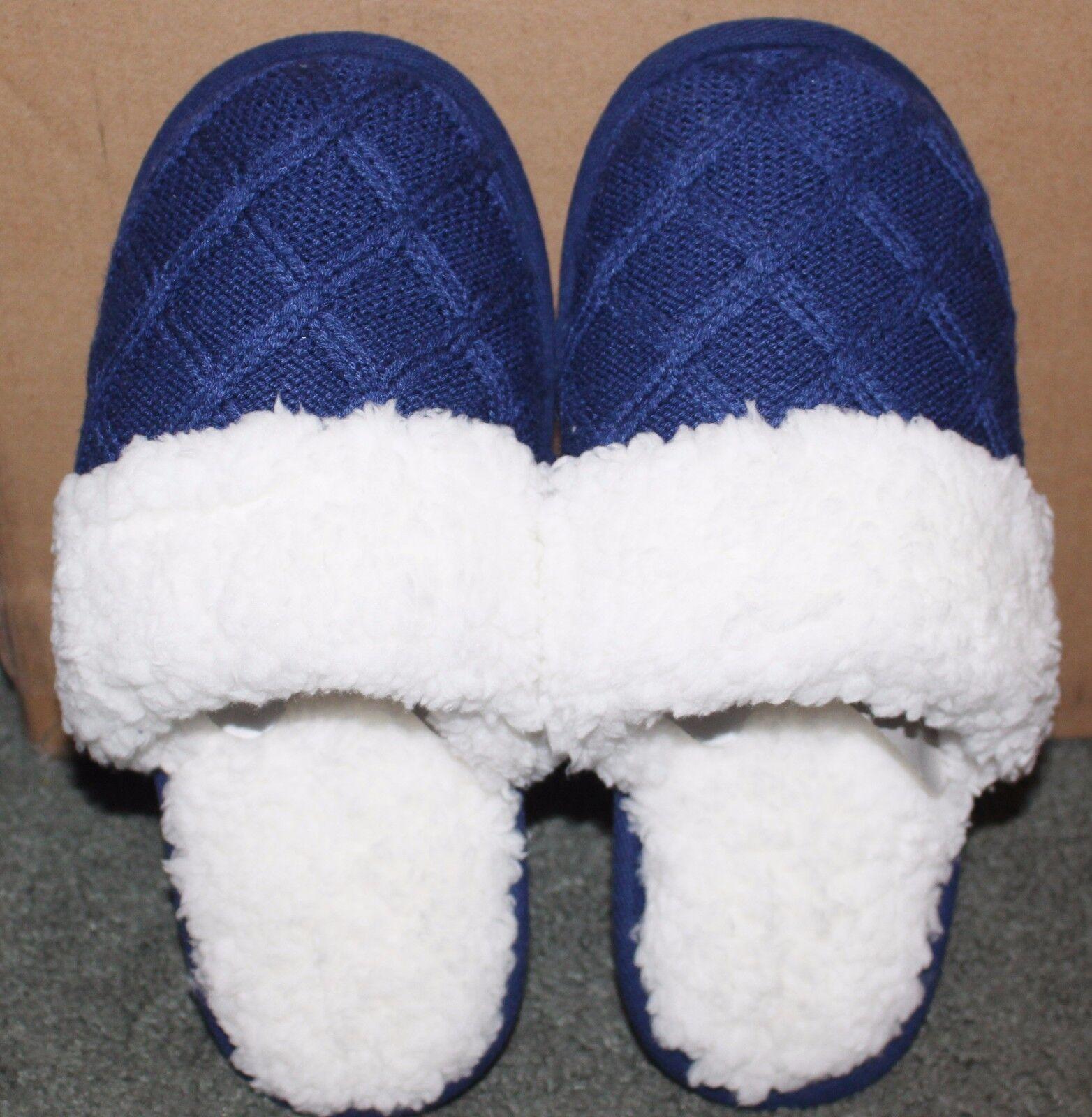 Victoria's Secret Super Soft Blue Waffle Slippers NEW Medium M 7 8 HS3