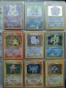 Base-Set-1-Pokemon-Cards-RARES-HOLOS-SHINYS-CHARIZARD-BLASTOISE