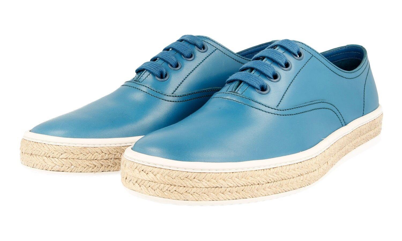 LUXUS PRADA SNEAKER SCHUHE 4E2951 blue NEU NEW 9 43 43,5