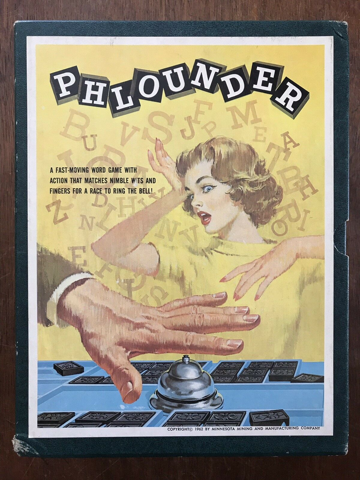 Board Game, Phlounder, First  Fat Box  Edition, 3M, 1962