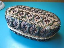 "OLDER 5"" BOX Great Lake Indian Porcupine Quill Birch Bark Basket trinket jewelry"