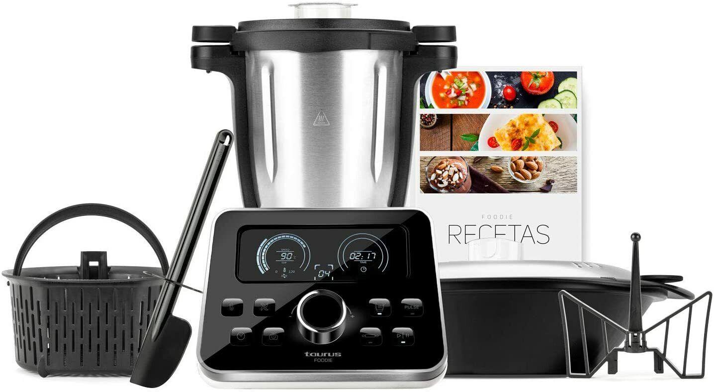Taurus Foodie Robot de Cocina Multifunción 3.5L 31 Funciones con Báscula 1500W