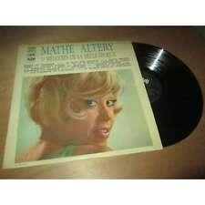 MATHE ALTERY - 13 mélodies de la belle epoque - PATHE 1960's Lp