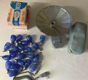 22 Westinghouse M2B Flash Bulbs Accura BounceMaster Tilt Flash Vintage