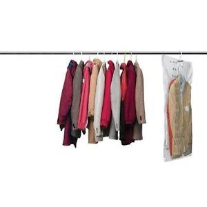 set of 4 vacuum seal hanging garment bags space saver saving storage ebay. Black Bedroom Furniture Sets. Home Design Ideas