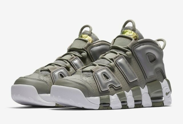 san francisco 0f009 bb697 Brand New W Nike Air More Uptempo 917593-001 Dark Stucco White Size 9