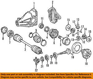 image is loading mercedes-oem-e420-rear-differential-pinion-yoke-companion-