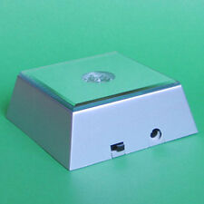 7 LED square light base for 3D photo crystal engraving glass art display stand