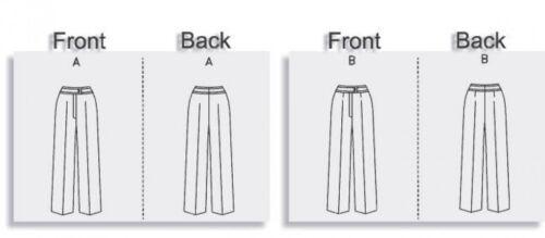Gratuit UK p/&p VOGUE Mesdames sewing pattern 7881 Straight Legged Pantalon pa...