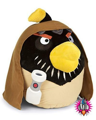 """Nouveau angry birds star wars collection large 8/"""" obi yoda chewbacca peluche jouet doux"""
