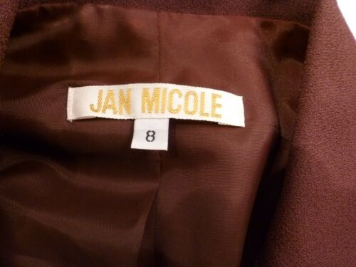 Set Micole Brown Pant Blazer Suit Nwt Jan 8 Size Yqw5H