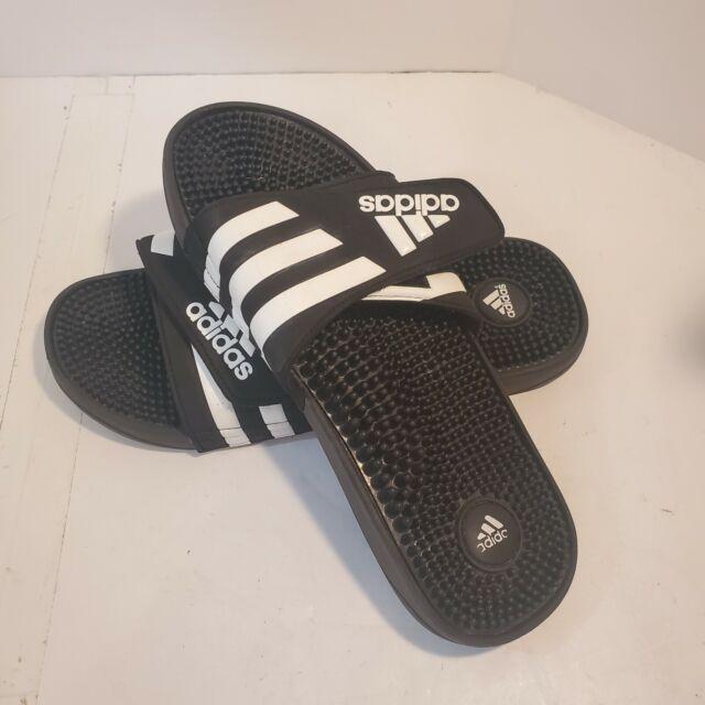Mens adidas Adissage Black Slides Shower Sandal Athletic Sport 078260 Size  13 for sale online | eBay