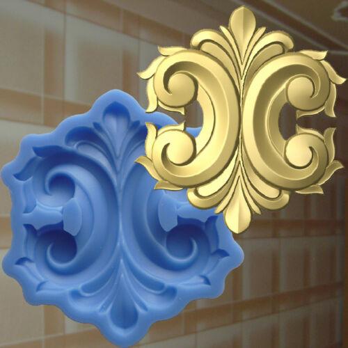 Moule stuc Savon Faire Fleur Ornement plaque Français Lily 159