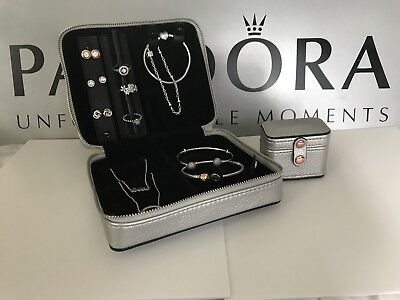 100 Authentic Pandora Travel Jewelry Box Limited Silver Edition Best Gift Ebay