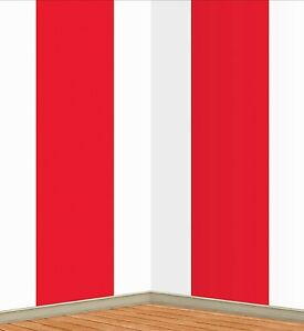 Image is loading 30ft-Red-Stripes-BIG-TOP-Carnival-Circus-Tent-  sc 1 st  eBay & 30ft Red Stripes BIG TOP Carnival Circus Tent Mural Scene Setter ...