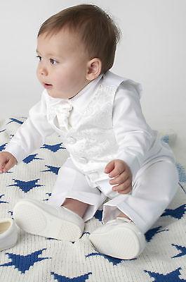 Baby Boys 4 Pezzi Battesimo Vestito Da Battesimo Vestito Paisley-mostra Il Titolo Originale Vendendo Bene In Tutto Il Mondo