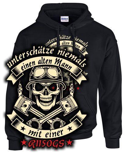 R1150gs TUNING Accessoires Sweatshirt Ne sous-Estimez jamais Vieil homme avec moto