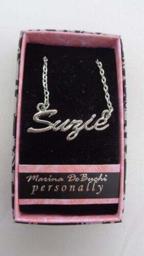"Gift Box Personalized Custom Name Necklaces 18/"" Chain Marina De Buchi"